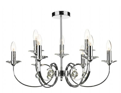 Allegra 9-light Polished Chrome Pendant Ceiling Light (827495) ALL1350
